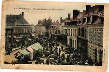 CPA Brou-Place du Marché et Rue de la République (177654)