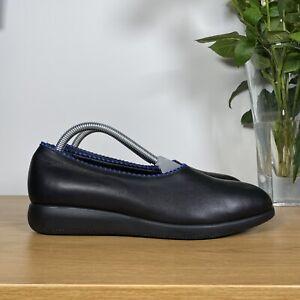 Womens MARYAM NASSIR ZADEH Leather Slip On Smart Work Flat Shoes Black - EU40