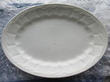 "Antique Paris White Ironstone Wheat Platter W&E Corn England 16 1/2"""