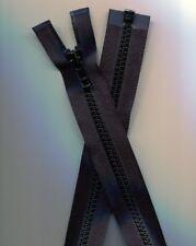 27 inch Deep Black #5 Vislon Separating YKK Zipper New!
