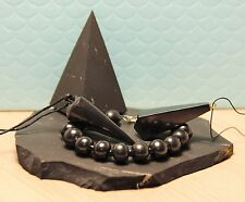 Shungite pendant pendulum set high pyramid stone bracelet shungit crystal S010