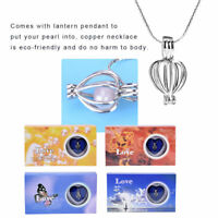 Love Pearl Wish Pearl Necklace Set Oyster Opening Cage Drop Pendant Christmas Pr