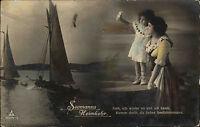 """Feldpost Kaiserliche Marine Briefstempel 1915 """"Seemanns Heimkehr"""" nach Lehe gel."""