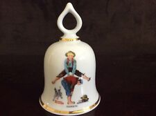 """Leapfrog"" Vintage Norman Rockwell Collectible Bell - 1979 Ltd Ed."