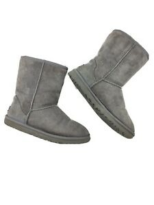 UGG Gray Boots Classic Short women's Size 8