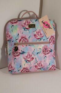 Luv Betsey Johnson Backpack mini  pink flower Pink/ travel weekender bag