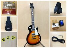 4/4 Haze 277BS LP Style Solid Body Electric Guitar,Sunburst +Free Gig Bag,Strap