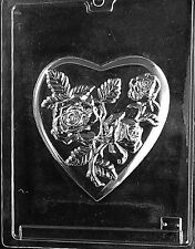 LARGE HEART POUR BOX 3 PIECES 1 BOTTOM 2 TOPS mold Chocolate Candy heart flowers