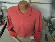 X-large adult pullover solid salmon micro fleece