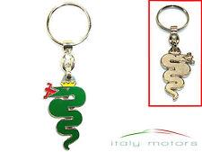 Alfa Romeo Schlüsselanhänger Schlange grün Neu OVP