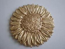 Resina Decorativa Stampaggio-Tradizionale classico GIRASOLE-Finitura Oro Dipinto