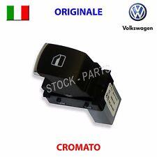 Pulsante alzavetri cromato VW GOLF 5 V 6 VI PASSAT ORIGINALE interruttore tasto