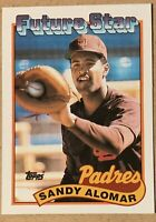 1989 TOPPS FUTURE STAR #648 SANDY ALOMAR JR ROOKIE RC SAN DIEGO PADRES
