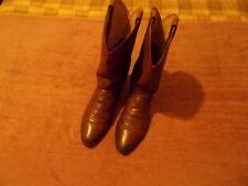 JUSTIN MEN BROWN LEATHER COWBOY BOOTS SIZE 11 EE
