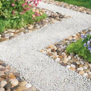 Set of 3 River Stone Garden Border Path Mats