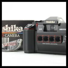 【RARE UNUSED BOXED】Nishika N8000 35mm 3-D Point & Shoot Film Camera From JAPAN