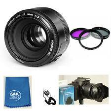 Yongnuo EF 50mm F1.8 Standard Prime Lens Kit for Canon Rebel DSLR Camera Filter+