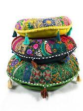 Runde Indische Sitzpuff Sitzkissen Bodenkissen Yogakissen Orientalisches Kissen