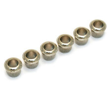(6) Nickel Metric Vintage Style Press-In Guitar Tuner Bushings TK-MPB-N