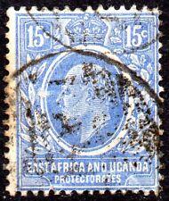1907 Sg 39 East Africa & Uganda Protectorate 15c bright blue Used