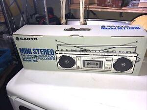 Vintage 1984 Sanyo M 7700K Boombox Radio New In Box!