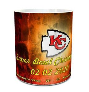 Super Bowl 2020 winners kansas City Chiefs mug Super Bowl champions