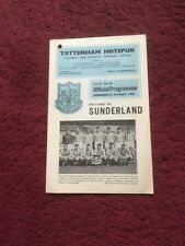 TOTTENHAM HOTSPUR V SUNDERLAND - FOOTBALL LEAGUE FIXTURE 1967