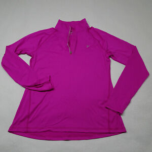 Old Navy Active GO DRY Petite Size MP Thumb Holes 1/4 Zip Semi Fitted Pullover