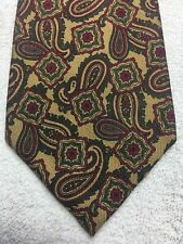FERRELL REED MENS TIE BROWN WITH GREEN AND BURGUNDY 3.5 x 59