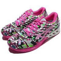 Asics FuzeX Multi-Color Pink Black Green Women Running Shoes Sneakers T6K8N-0120
