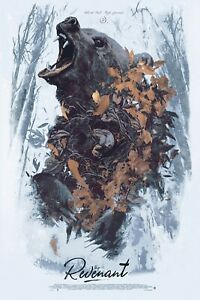 The Revenant Variant Alternative Movie Poster by AJ Frena #/35 NT Mondo