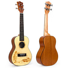 Kmise Top Spruce Professional Concert Ukulele Ukelele Hawaii Guitar 23 Inch