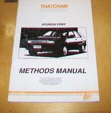 Hyundai Pony Thatcham carrosserie Methods Manual. 1989