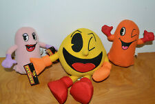 PAC MAN PLUSH TOY LOT NAMCO TOY FACTORY CLYDY PINKY VIDEO GAME COLLECTIBLES GHOS