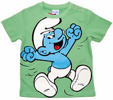 NEU! Peyo Schlumpf Schlümpfe T-Shirt Shirt Pulli Baumwolle grün 80 86 92