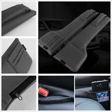 2 Pcs Car Seat Side Gap Slit Black Pocket Bar Phone Card Storage Organizer Bag