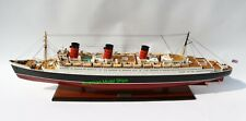 """RMS Queen Mary Cruise Ship Model 40"""" Handcrafted Wooden Model NEW"""