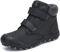Mishansha Boys Girls Water Resistant Hiking Boots Anti, Black, Size 3.0 dIvh