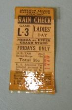 June 1 1945 New York Yankees Cleveland Indians Ladies Day Baseball Ticket Stub