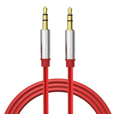 "Red 3.5mm 1/8"" Audio Cable Car AUX-In Cord For WeSC Chambers On-Ear Headphones"