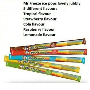 MR FREEZE ICE POPS 10 or 20 or 140 LOLLIES 5 FLAVOUR FAVOURS KIDS ICE CREAMS