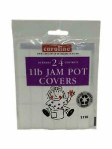 Jam Pot Covers Clear 1lb 24x Jar Preserves Chutney Pickle Label Wax Seal Discs