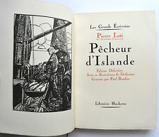 PÊCHEUR d'ISLANDE Pierre LOTI 1928  ill DETHOMAS Gravures BAUDIER