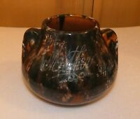 "Small Brush-McCoy Planter, Chicago World's Fair 1934 etched ""Mother"" onyx glaze"