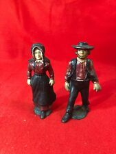Vintage Cast Iron Amish Couple Nice Patina