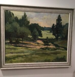Maurice Hart Painting Of The Copse & Golf Course At Brickendon Grange Golf Club