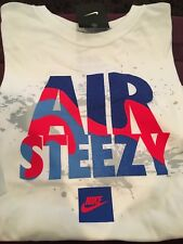 NIKE COTTON GRAPHIC T-SHIRT MEN XXL WHITE 'AIR STEEZY NIKE SWOOSH' NWT RARE!!