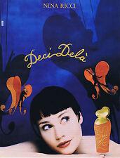PUBLICITE ADVERTISING 074 1995 NINA RICCI  Deçi Delà  Jean Larivière