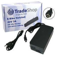 1pin Netzteil Ladekabel 42V 3A für 36V Akkus für Pedelecs E-Bike Elektrofahrrad