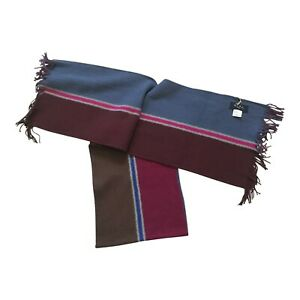 Paul Smith Scarf Multi coloured Reversible scarf One size brown red blue